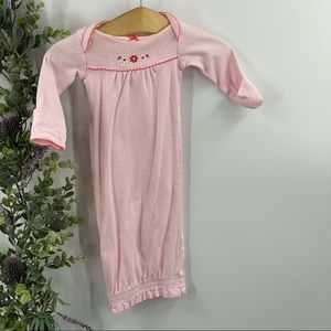 Carter's | Newborn Gown, Pink, embroidered flowers